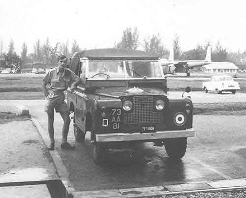 Geoff Wilson with Squadron Land Rover